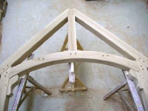 Gebogen houten balken